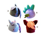 Mlpfim pony fleece hat inspired by Maud Pie, Spike the dragon, Sweetie Belle or Big Mac (for brony and cosplay)