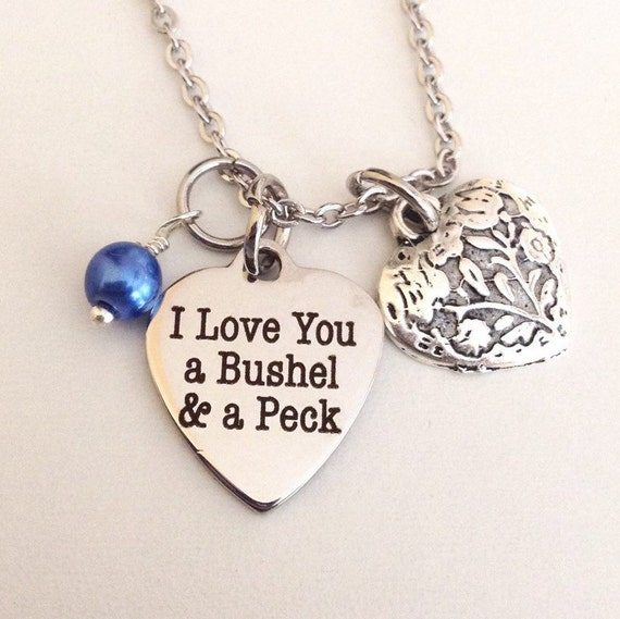 I Love You A Bushel And A Peck Necklace: I Love You A Bushel And A Peck Necklace Love Significant