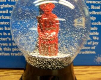 Krampus in an 80mm Glass Snowglobe Handmade in Vienna, Austria