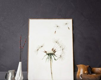 Print Of Watercolor Painting - 'Dandelion' - Quality Paper - Unique Design - Wall Decoration - Poster - SFA
