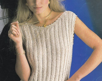 Vintage knitting pattern sleeveless top sweater pdf INSTANT download pattern only pdf
