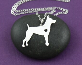 SALE - Rat Terrier Necklace - Dog Pendant - Dog Jewelry - Dog Breed - Pet Jewelry - Personalized - Mothers Day Gift