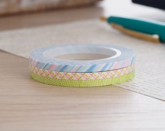 MT Washi Tape MT Slim 3mm Pastel | Japanese Masking Tape Craft Supplies MT 2016 Summer Collection (MTSLIMS07)