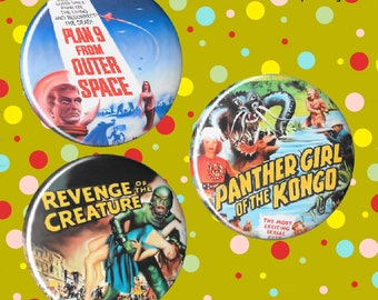 Retro movie poster magnets