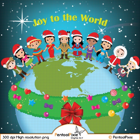 Christmas around the world clipart World Christmas Christmas