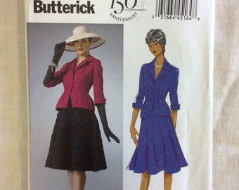 Out-of-Print Butterick 5962 Misses'/Misses' Petite Jacket and Skirt Pattern / Gertie Pattern / Sizes 16-24