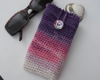 handmade phone case iphone case cellphone sleeve purple phone phone case pink phone case crochet phone case LG samsung sony nokia