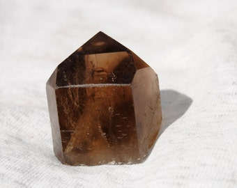 Polished Smoky Quartz Crystal