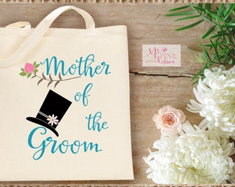 Hat and Flower  Mother of the Groom  Wedding Tote Bag