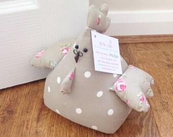 Madge! Fat Hen Doortsop, Fabric Doorstop, Chicken Doorstop, Novelty Gift, Personalised Gift