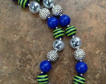 Seahawks chunky bead necklace