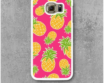 Samsung Galaxy S6 Case Pink Pineapple