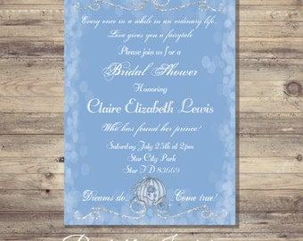 Cinderella Invitation, Bridal Shower, Cinderella Shower Invitations, Cinderella  Wedding, Wedding Invitations,