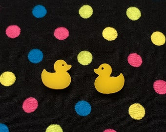 Tiny Duck Stud Earrings