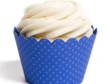 Royal Blue Cupcake Wrapper {Set of 12}