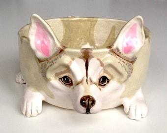 Ceramic Dog Bowl, Personalized Dog Bowl, Husky Dog Bowl Ceramic, Personalised Dog Bowls, Gifts for Dog Lovers, Pet Gift, Custom Dog Bowl