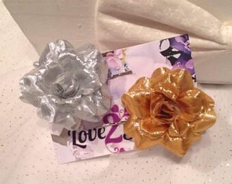 Small Rose Flower Hair Grips, Rose Bobby Pins, festival flower pins, hair pins, summer hair accessory, rose, carnival, beach, hair accessory
