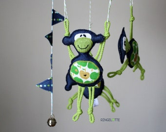 Baby mobiles - mobile monkey - nursery decoration - monkey
