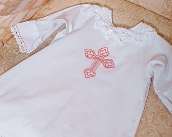 Baptism gift girl outfit girl Christening baby cotton shirt Baptism dress Christening gown baby outfit goddaughter gifts Christening outfit