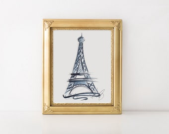 Eiffel tower print, Eiffer Tower art, Eiffel-Tower, Paris art, Paris decor, Watercolor print,  Paris wall art, Art print, Watercolor art