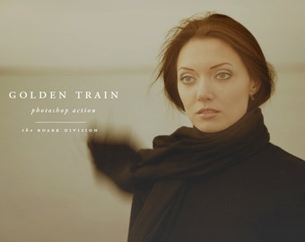 Golden Train Photoshop Action Instant Download Photoshop Photographer's Action Photoshop Tools for Photographers Photo Editing Actions