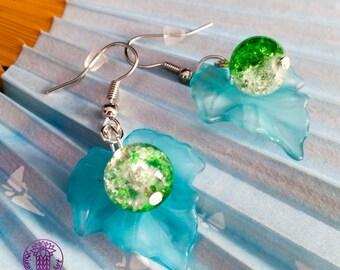 Fantasy Style Leaf Earrings - Nickel free