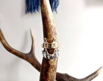 Cat Ring : Silver or Gold