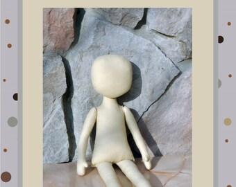 PDF Cloth Doll Pattern Sewing Tutorial Soft Doll Pattern