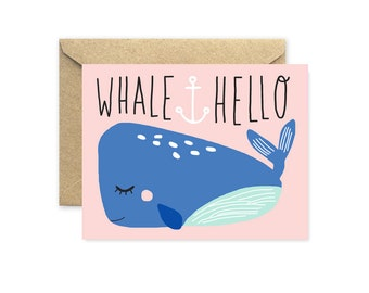 Whale Hello - Greeting Card