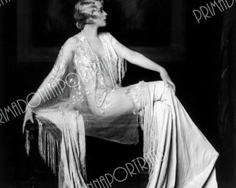 """MURIEL FINLAY 5x7 or 8x10 Photo Print Hollywood 1920s """"Alfred Cheney Johnston"""" Ziegfeld Girl, Vintage Golden Age of Hollywood Portrait"""