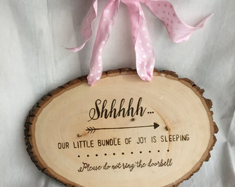 Baby is Sleeping Plaque