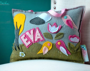 Tooth Fairy Pillow, Personalized Kid's Pillows, Baby Name Pillow, Tooth Fairy Pillow Girl, Tooth Pillow Girl, Name Pillow, Eva Pillow