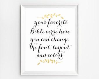 Custom Verse Print, Custom Scripture, Custom Design, Christian Art Print, Custom Bible Print, Custom Bible Verse Quote