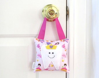 Girls Tooth Fairy Pillow - Personalized Tooth Fairy Pillow - Princess