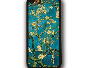iPhone 7 Almond Blossoms van Gogh rubber case iPhone 6s case iPhone SE rubber case iPhone 5 case iPhone 5c case Samsung Galaxy S3 S4 case