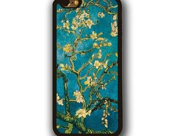 iPhone 8 Almond Blossoms van Gogh rubber case iPhone 6s iPhone 7 iPhone SE rubber case iPhone 5 iPhone 5c case Samsung Galaxy S3 S4 case