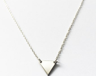 Rose Necklace // Sterling Silver // Sterling Silver Necklace, Triangle Necklace
