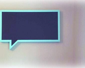 Chat Bubble Chalk Board - Memo Board - Chalkboard Planner - Menu Chalkboard - Framed Chalkboard - Planner - Fitness Tracker - Office Decor