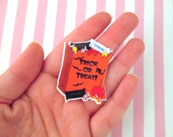 2 Trick or Treat Cabochons Halloween Candy Cabochons #706