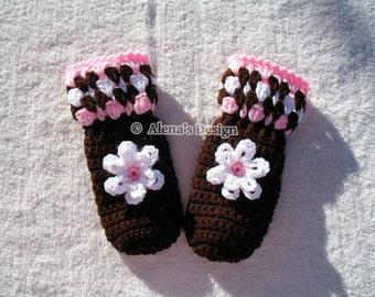 Crochet Mitten Pattern - Crochet Pattern 035 - Children's Mittens - Mittens Patterns - Crochet Glove Pattern Toddler Kids Teens Mittens