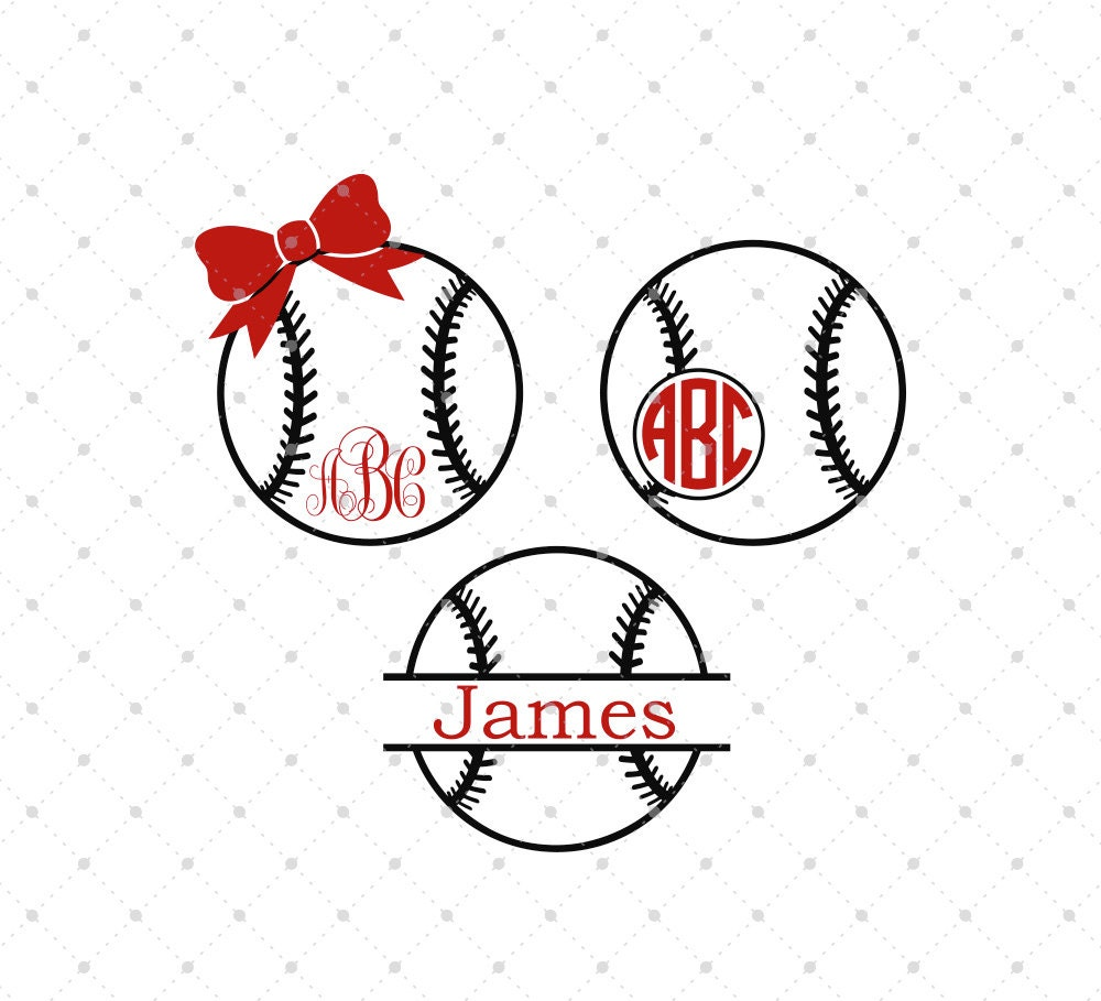 Baseball Svg Cut Files Baseball Monogram Frame Svg Cut Files