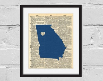 Emory Print. Dictionary Art Print. Atlanta Print.