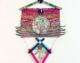 Paper Wall Hanging, Fine Art - Demonstrating Iyawa