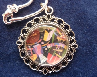 Wassily Kandinsky Pendant and Chain    Mothers Day Gift