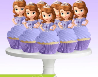 sofia the first cupcake toppers sofia the first cake topper sofia ...