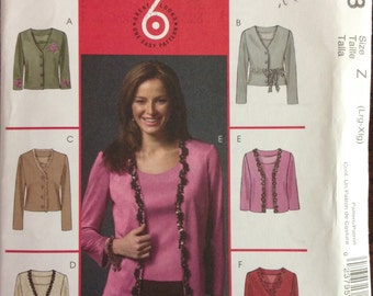 McCalls M4923 - Cardigan Jacket and Top Collection - Size L XL