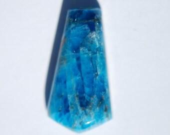 Apatite cabochon, Kite shape, Turquoise, sky Blue color, 24 x 12.5mm, C4455