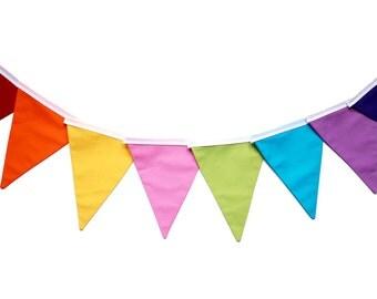 Rainbow bunting - rainbow garland - rainbow decor - rainbows decorations - rainbow party - rainbow fabric bunting
