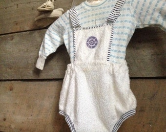 1950's Carter's Baby Shorts Overalls 2 years
