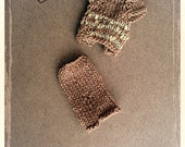 Hand Knitted Doll Outfit. Brown Knit Skirt and Top/Real color on the second foto